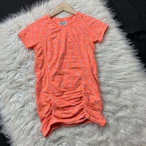 athleta | neon orange fastest track t shirt